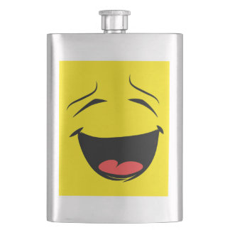 YELLOW SMILEY HIP FLASK