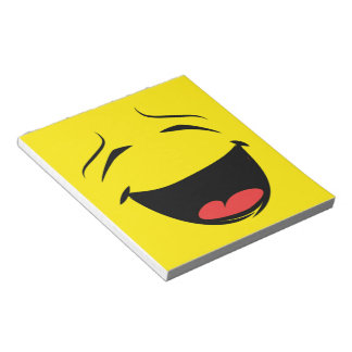 YELLOW SMILEY NOTEPAD