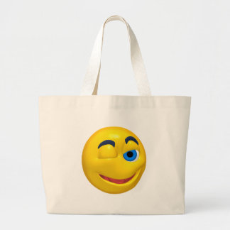 Yellow smiley that is winking bags