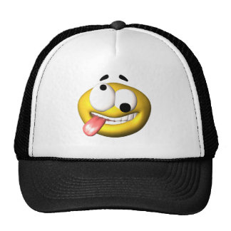 Yellow smiley that went nuts mesh hats