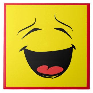 YELLOW SMILEY TILE