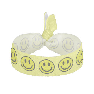 YELLOW SMILEYS HAIR TIE