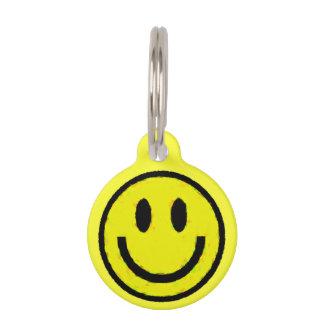 YELLOW SMILEYS PET NAME TAG