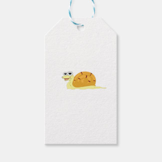 yellow snail in shell gift tags