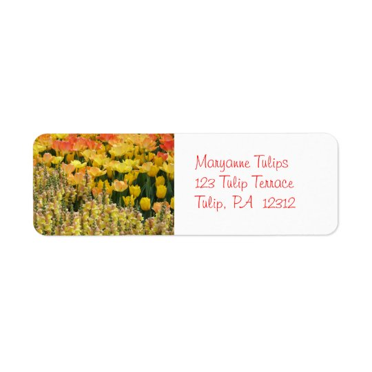 Yellow Snapdragons Avery Return Address Label