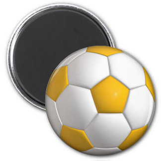 Yellow Soccer Ball Magnet