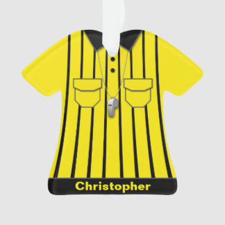 Yellow Soccer Referee Uniform Personalized
