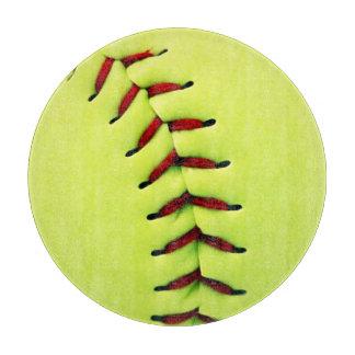 Yellow softball ball cutting boards