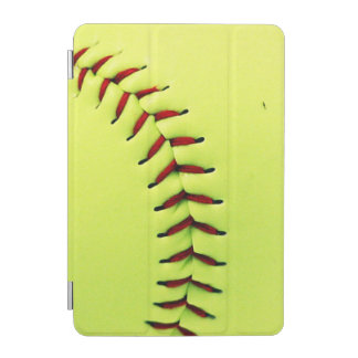 Yellow softball ball iPad mini cover