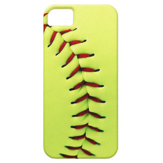 Yellow softball ball iPhone 5 cover