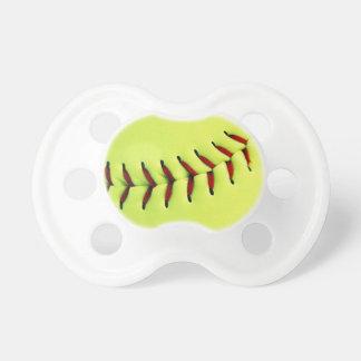 Yellow softball ball pacifier