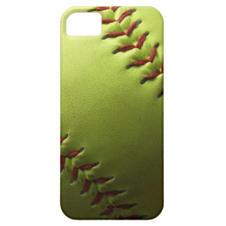 Yellow Softball Black Fade iPhone 5 Cases