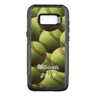 Yellow Softball Fastpitch Wallpaper OtterBox Commuter Samsung Galaxy S8+ Case