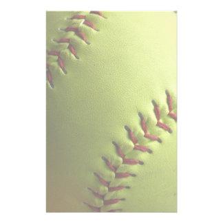 Yellow Softball Light Stationery