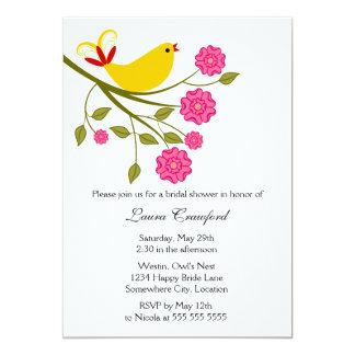 Yellow Songbird Bridal Shower Invitation