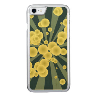Yellow spheres carved iPhone 7 case