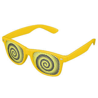 yellow spiral party shades