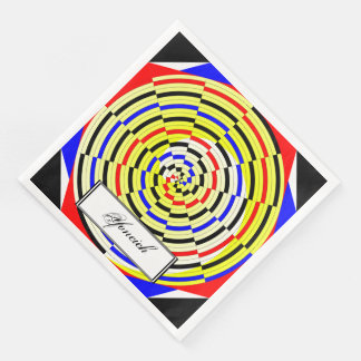 Yellow Spirals by Kenneth Yoncich Paper Napkin