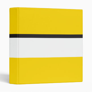 Yellow Sportscar Stripe Vinyl Binders