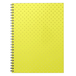 Yellow Spotted Backdrop Notebooks