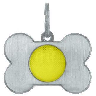 Yellow Spotted Backdrop Pet Name Tag