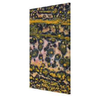 Yellow spotted Ocean Jasper Canvas Print