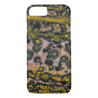 Yellow spotted Ocean Jasper iPhone 7 Case