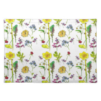 Yellow Spring Daffodil Botanical Watercolor Art Placemat