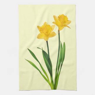 Yellow Spring Daffodils - Daffodil Template Kitchen Towel