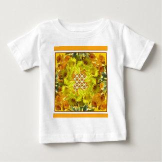 YELLOW SPRING DAFFODILS GARDEN  PATTERN BABY T-Shirt