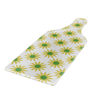 Yellow Spring Floral Pattern Cutting Boards