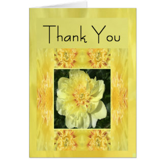 Yellow Spring Flower Thank You Card for Anyone