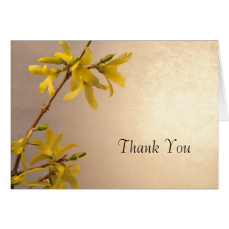 Yellow Spring Forsythia Flowers Thank You Note Card
