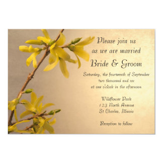 Yellow Spring Forsythia Wedding Invitation