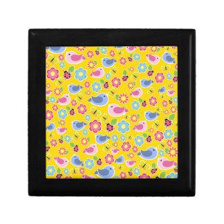 Yellow spring pattern gift box