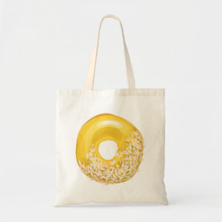 Yellow Sprinkled Doughnut. Tote Bag