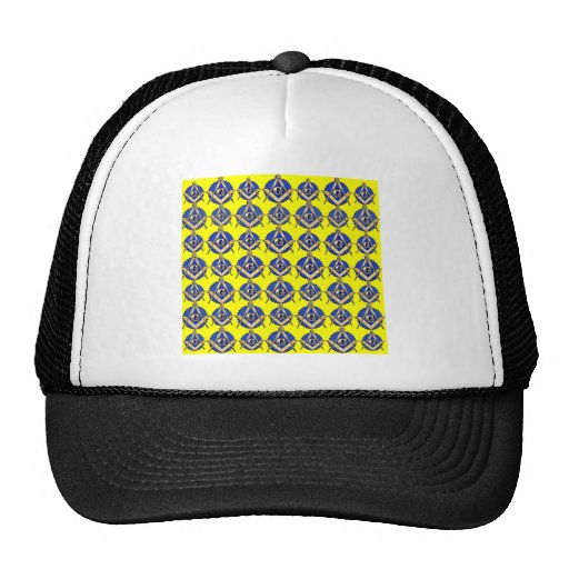 Yellow Square & Compass Trucker Hats