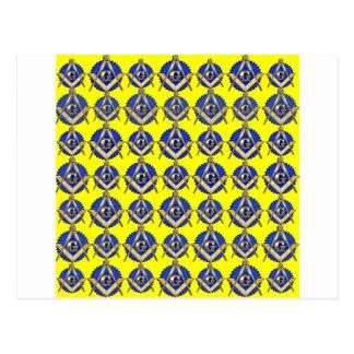 Yellow Square & Compass Postcard