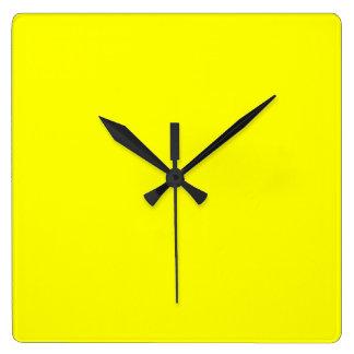 Yellow Square Wall Clock
