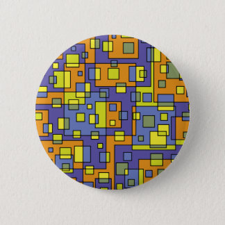 Yellow squares background 2 inch round button