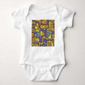 Yellow squares background baby bodysuit