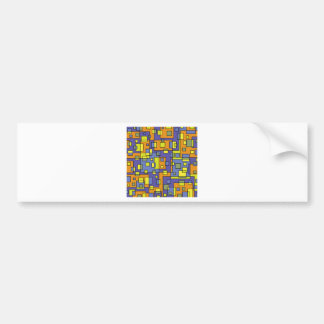 Yellow squares background bumper sticker