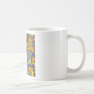 Yellow squares background coffee mug