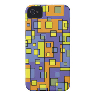 Yellow squares background iPhone 4 cases
