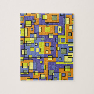 Yellow squares background jigsaw puzzle
