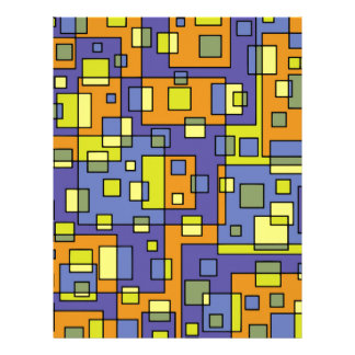 Yellow squares background letterhead