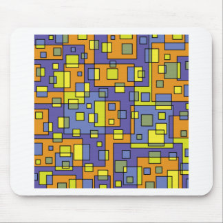 Yellow squares background mouse pad