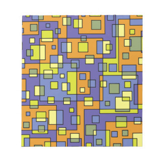 Yellow squares background notepad