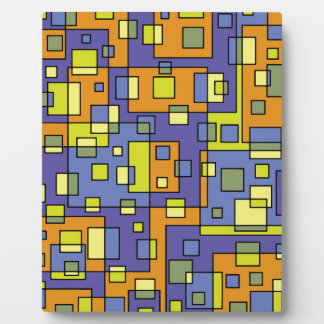 Yellow squares background plaque