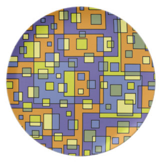 Yellow squares background plate